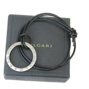 Bvlgari Bvlgari Bvlgari Leather Pendant Necklace (